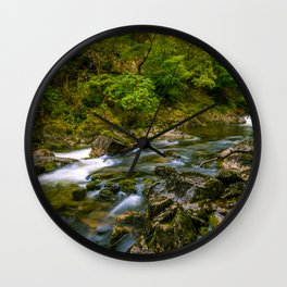 Along the Glaslyn river Wall Clock
