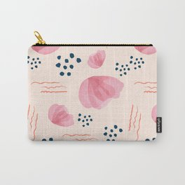 Minimal Pink Petals 01 Carry-All Pouch