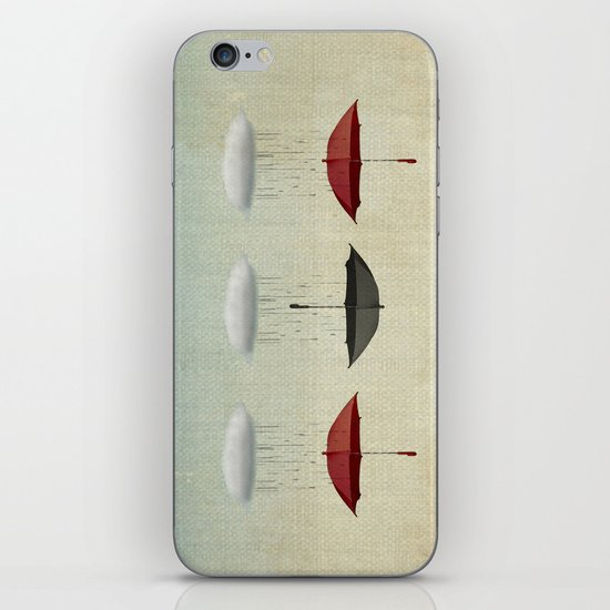 the umbrella filleth iPhone & iPod Skin