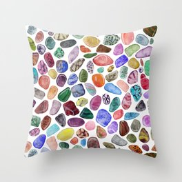 Rock Collection Throw Pillow