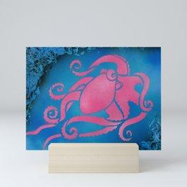 Pink Octopus Mini Art Print