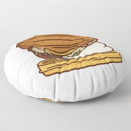 Puglie Waffles Floor Pillow