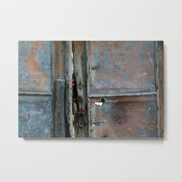 Rusty metal gate Metal Print