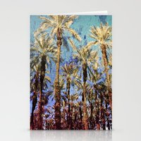 palm trees Stationery Cards featuring Palm Trees by Loveurstyle