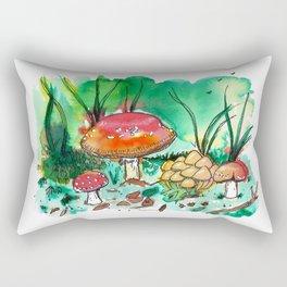 Toadstool Mushroom Fairy Land Rectangular Pillow
