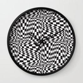 Check Twist Wall Clock