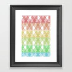 Tringles Gradient Framed Art Print