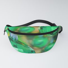 Green Christmas decoration balls Fanny Pack