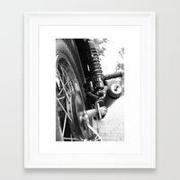 motorcycle Framed Art Prints featuring Motorcycle by CABINWONDERLAND