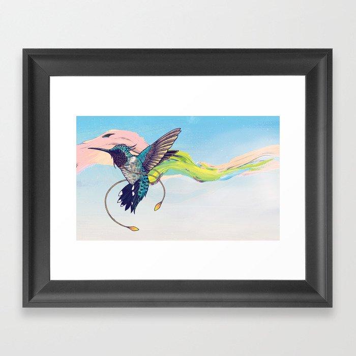 Hummingbird Gerahmter Kunstdruck
