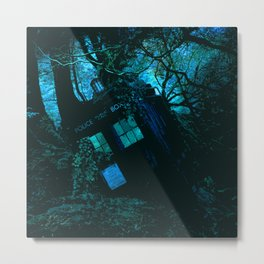 DEATH OF THE TARDIS Metal Print