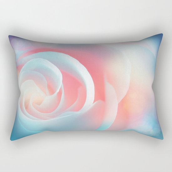 Rose flower and bokeh- Roses Rectangular Pillow