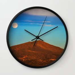 The Moonlit Red Hill Wall Clock