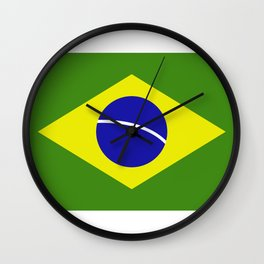 brazil flag Wall Clock