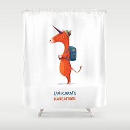 Unicorn's adventure Shower Curtain
