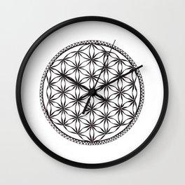 Flower of Life (b&w) Wall Clock