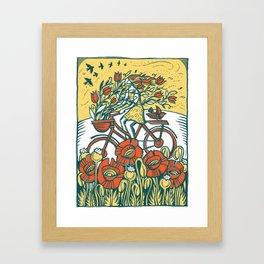 Bike Blossoms Framed Art Print