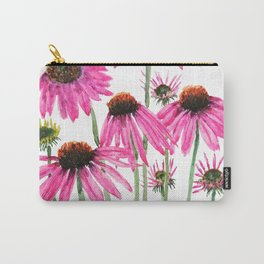 pink coneflowers watercolor Carry-All Pouch