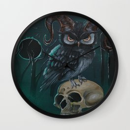 Horned owl Wall Clock