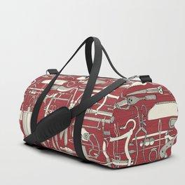 fiendish incisions claret Duffle Bag