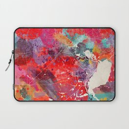 Beaumont map Texas painting square 2 Laptop Sleeve