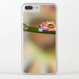 Water Droplet Flower Clear iPhone Case