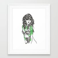 tattoos Framed Art Prints featuring Tattoos by Maia Fjord