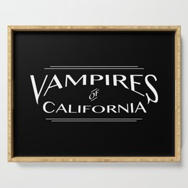 Vampires Of California Black and White Serving Tray