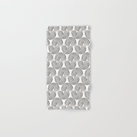 Black and white pattern - Optical game12 Hand & Bath Towel