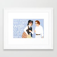 """annie hall Framed Art Prints featuring Annie Hall """"We Can Walk From Here"""" by DeanFred Rex"""