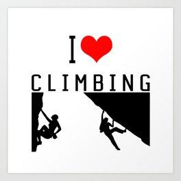 I Love Climbing - Sport Climb Climbing Climber Boulder Art Print