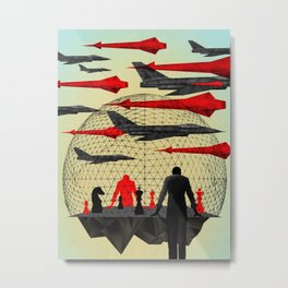 """Let's Play War"" by Brian Stauffer for Nautilus Metal Print"