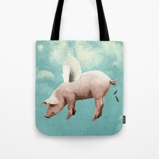 when pigs fly... Tote Bag