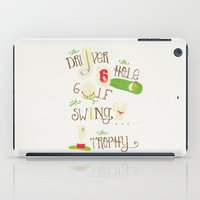 golf iPad Cases featuring Golf  by Crea Bisontine