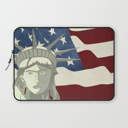 Statue of Liberty American Flag Laptop Sleeve