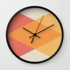 Mid Century - Yellow and Red Wall Clock