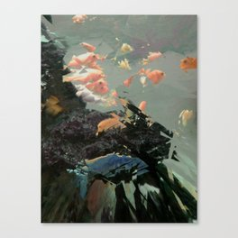 aquaglitch Canvas Print