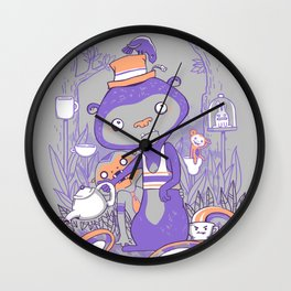 Tea Monkey Tea Party Wall Clock