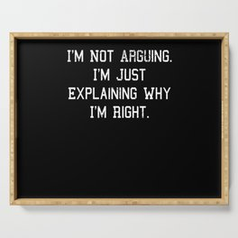Funny Saying Quote Gift Idea Christmas Birthday Serving Tray