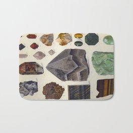 The Mineral Kingdom by Dr. Reinhard Brauns, 1903. Germany. Beautiful Gems Mineral Jewels Bath Mat