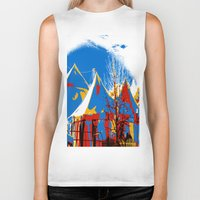 circus Biker Tanks featuring Circus by LoRo  Art & Pictures