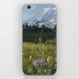 Wildflowers and Mount Rainier iPhone Skin