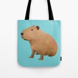 Capybara Polygon Art Tote Bag