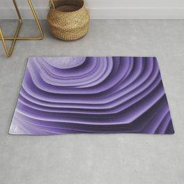 Violet agate folds Rug