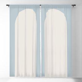 Minimal Arch - Soft Blue Blackout Curtain