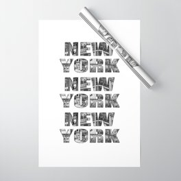 New York  B&W typography Wrapping Paper
