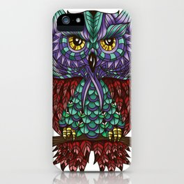 Owl Feathers iPhone Case