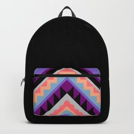 Wavy Chevron - Peach Plum Backpack