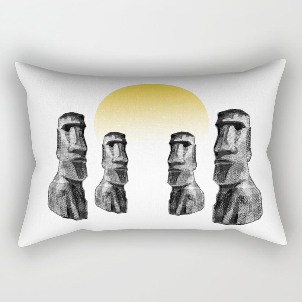 Sunset Moai Rectangular Pillow RPW8909710