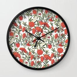 red climbing flowers Wall Clock